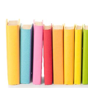 Row of colorful books (JPG)
